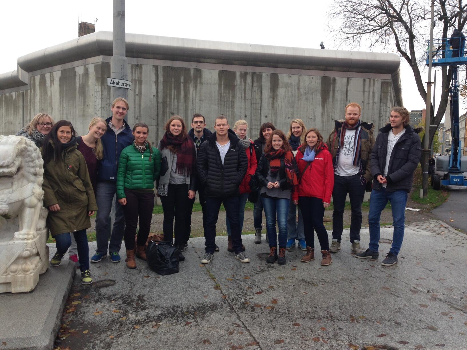 Studentene som var samlet i Oslo