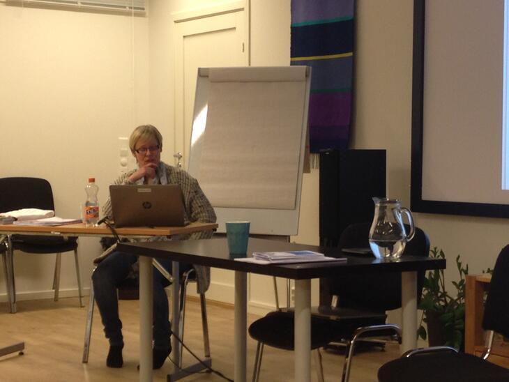 Sigrun Dalsaune Jansen fortalte om funnene i masteroppgaven sin.