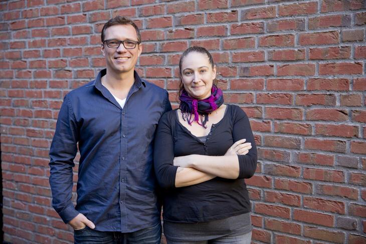 Enhetslederne ved Tyrili Kampen, Kasper Sølberg og Hanne Lorimer Aamodt