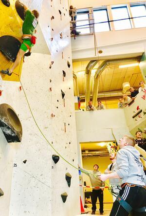 Sikring av klatrer i klatrevegg