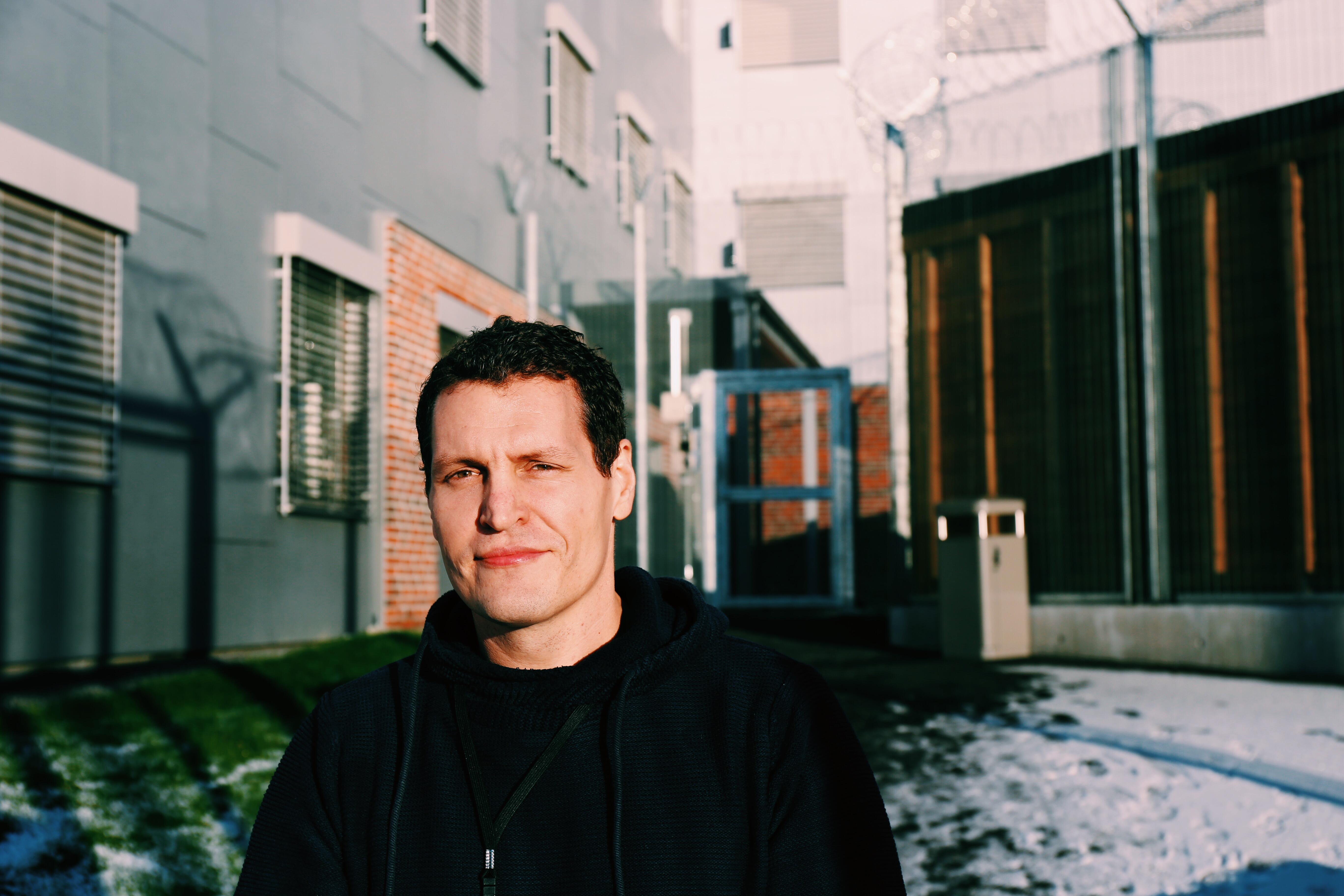 Sosialfaglig behandler Henrik Bergan Fossum fra Tyrili i Eidsberg fengsel.