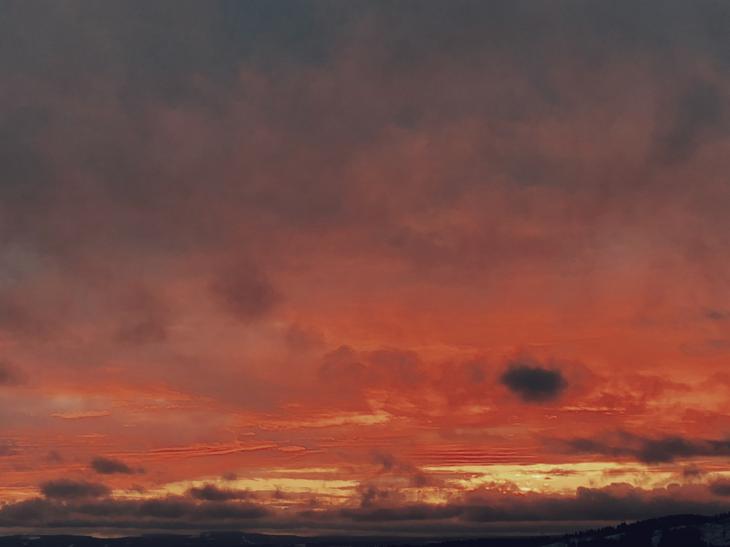 maleri; solnedgang