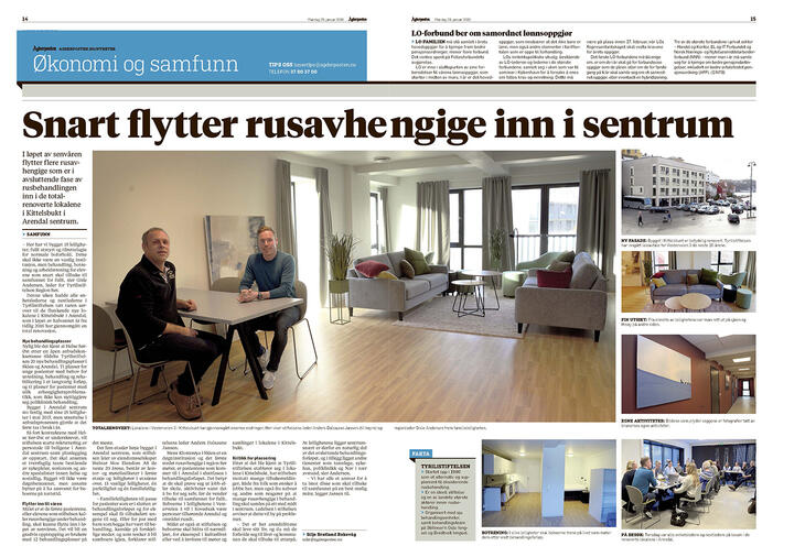 Faksimile fra Agderposten 29.01.2018