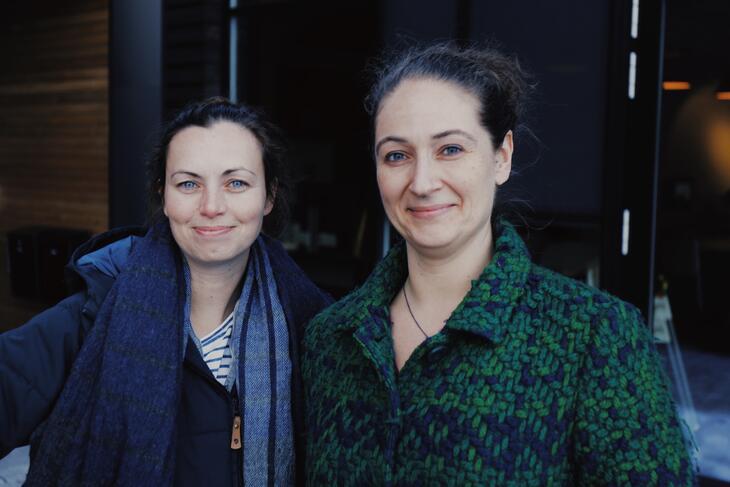 Tone Helene Bergly og Hanne Lorimer Aamodt fra Tyrili FIA leder pilotprosjektet i Skien.