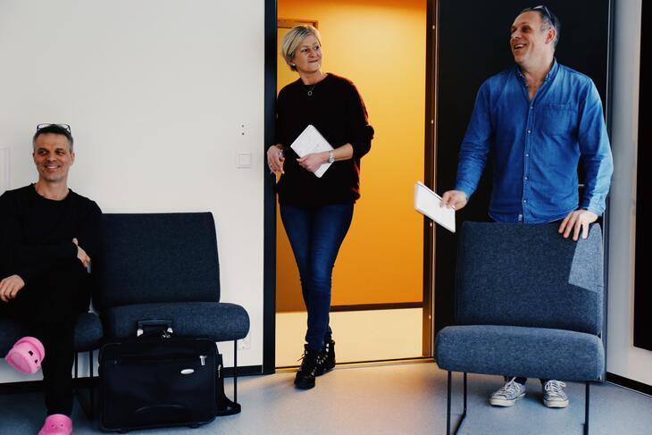 Vegard Knutsen (Tyrili), Lise Aasmundstad (NUBS) og Gisle Andersen (Tyrili).