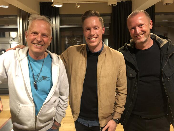 Martin Blindheim fra Helsedirektoratet, Tyrilistiftelsens leder Anders Dalsaune Jansen og leder av Uteseksjonen i Oslo kommune, Børge Erdal.