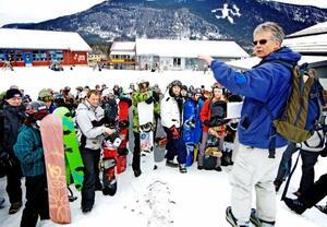 Tyrili Brettklubbs grunnlegger, Gunnar Engen, på den årlige brettleiren. Foto: Privat