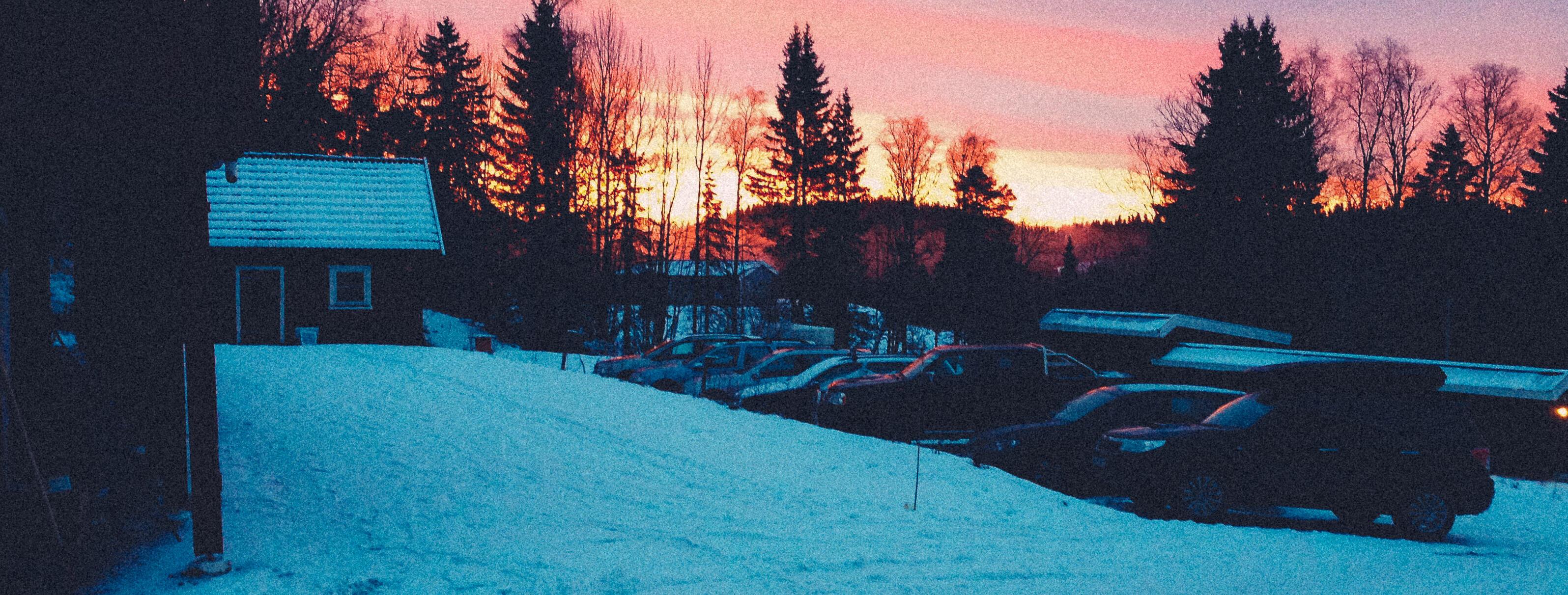 Soloppgang ved Tyrilihaugen øst for Lillehammer.